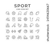 set line icons of sport... | Shutterstock . vector #1454620667