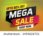 mega sale word concept vector...