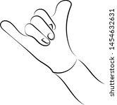 hand showing ok sign ... | Shutterstock .eps vector #1454632631