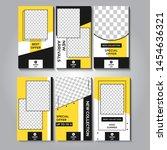 trendy editable square template ... | Shutterstock .eps vector #1454636321