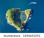 Azores Aerial Panoramic View....
