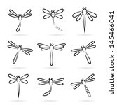 vector group of dragonfly... | Shutterstock .eps vector #145466041