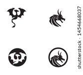 dragon vector icon illustration ... | Shutterstock .eps vector #1454668037