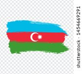 flag azerbaijan from brush...