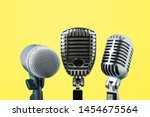 Microphone Isolated On Yellow...