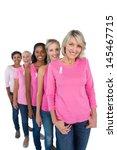 Group Of Women Wearing Pink...