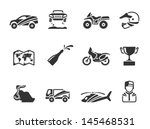 rally related icons in single... | Shutterstock .eps vector #145468531