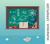 class blackboard with chalk... | Shutterstock .eps vector #1454691104