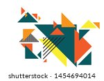 abstract colorful geometric...   Shutterstock .eps vector #1454694014