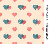 seamless pattern with hearts in ... | Shutterstock .eps vector #145470019