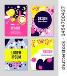 abstract set of brush strokes...   Shutterstock .eps vector #1454700437