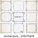 vintage frame set 11. abstract... | Shutterstock .eps vector #145470649