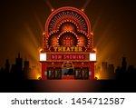 theater cinema building theater ...   Shutterstock .eps vector #1454712587