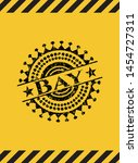 bay grunge black emblem with... | Shutterstock .eps vector #1454727311