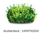 garden bush. green garden... | Shutterstock .eps vector #1454741024