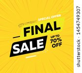 special offer final sale banner ... | Shutterstock .eps vector #1454749307
