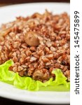 russian traditional buckwheat...