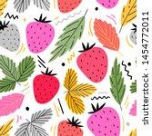 strawberry seamless pattern for ... | Shutterstock .eps vector #1454772011