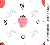 strawberry seamless pattern for ... | Shutterstock .eps vector #1454772014