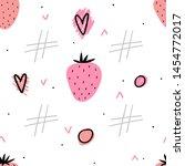 strawberry seamless pattern for ... | Shutterstock .eps vector #1454772017