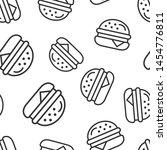 burger sign icon seamless... | Shutterstock .eps vector #1454776811