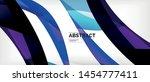 linear wave web template.... | Shutterstock .eps vector #1454777411