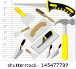 illustration building tools... | Shutterstock .eps vector #145477789