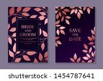 floral wedding invitation... | Shutterstock .eps vector #1454787641