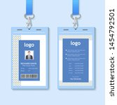 id card with lanyard set... | Shutterstock .eps vector #1454792501