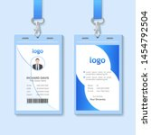 id card with lanyard set... | Shutterstock .eps vector #1454792504