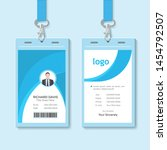 id card with lanyard set... | Shutterstock .eps vector #1454792507