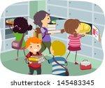 illustration of stickman kids... | Shutterstock .eps vector #145483345