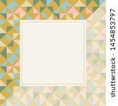 square frame in retro colors.... | Shutterstock .eps vector #1454853797