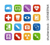medical icon set | Shutterstock .eps vector #145485964