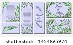 set of printed products for the ... | Shutterstock .eps vector #1454865974