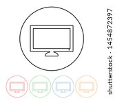 tv or monitor icon in a thin... | Shutterstock .eps vector #1454872397