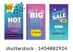 set media banners with discount ... | Shutterstock .eps vector #1454882924