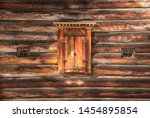 Old Wooden Window Shutters On A ...