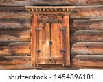 Carved Wooden Window. Old...