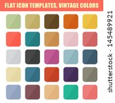 set of flat app icon templates  ... | Shutterstock .eps vector #145489921