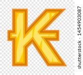 Lao kip icon. Cartoon illustration of kip icon for web design