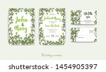 double wedding invitation with... | Shutterstock .eps vector #1454905397