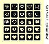 love icon set | Shutterstock .eps vector #145491199