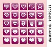 heart icons | Shutterstock .eps vector #145491211