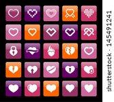 heart icon | Shutterstock .eps vector #145491241