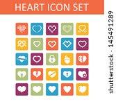 heart icon set   Shutterstock .eps vector #145491289