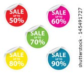 vector illustration. sale tags... | Shutterstock .eps vector #145491727