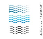 water wave symbol and icon logo ... | Shutterstock .eps vector #1454930411