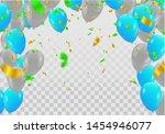 balloons  vector illustration.... | Shutterstock .eps vector #1454946077