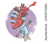 zombie hand horror illustration ... | Shutterstock .eps vector #1454972081